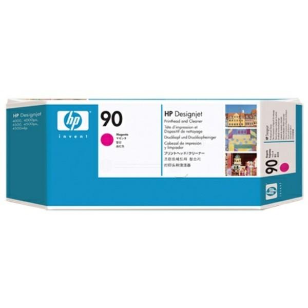 Original HP C5056A / 90 Druckkopf magenta +Druckkopfreiniger 400 ml