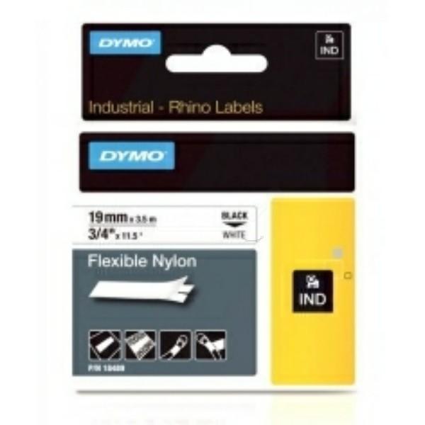 Original Dymo 18759 / S0718120 Farbband Nylonband schwarz auf weiss