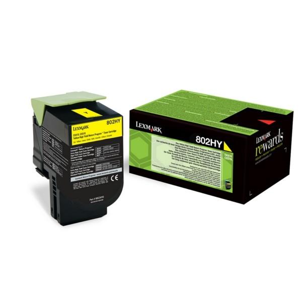 Original Lexmark 80C2HY0 / 802HY Toner-Kit gelb return program 3.000 Seiten
