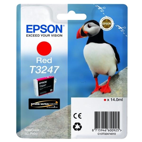 Original Epson C13T32474010 / T3247 Tintenpatrone rot 14 ml 980 Seiten