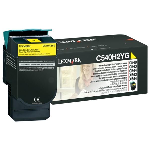 Original Lexmark C540H2YG Toner gelb 2.000 Seiten