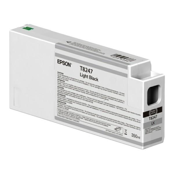 Original Epson C13T824700 / T8247 Tintenpatrone schwarz hell 350 ml