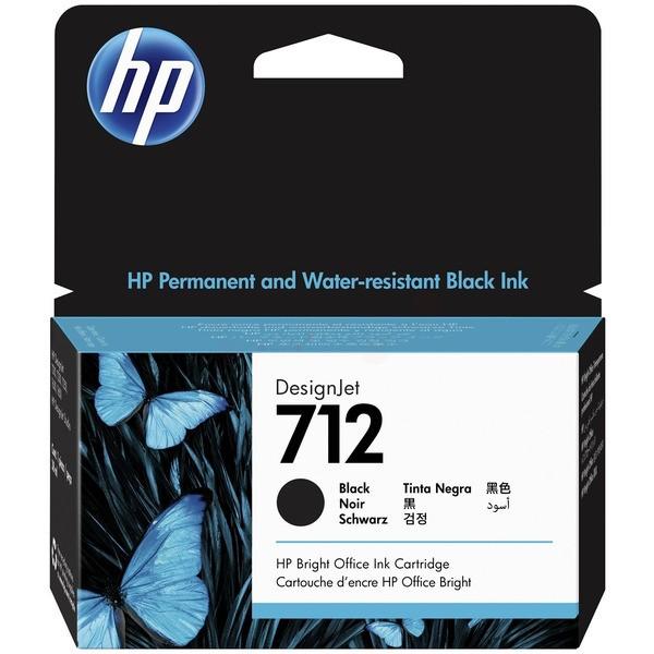 Original HP 3ED70A / 712 Tinte black 38 ml
