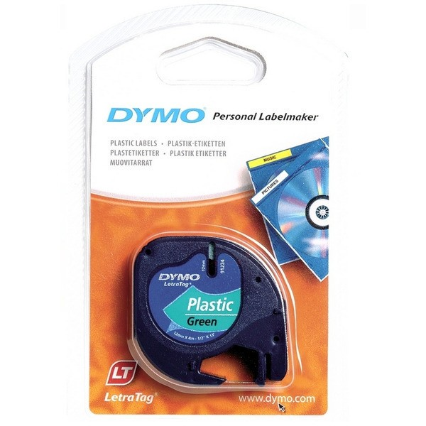 Original Dymo 91204 / S0721640 DirectLabel-Etiketten Polyester grün