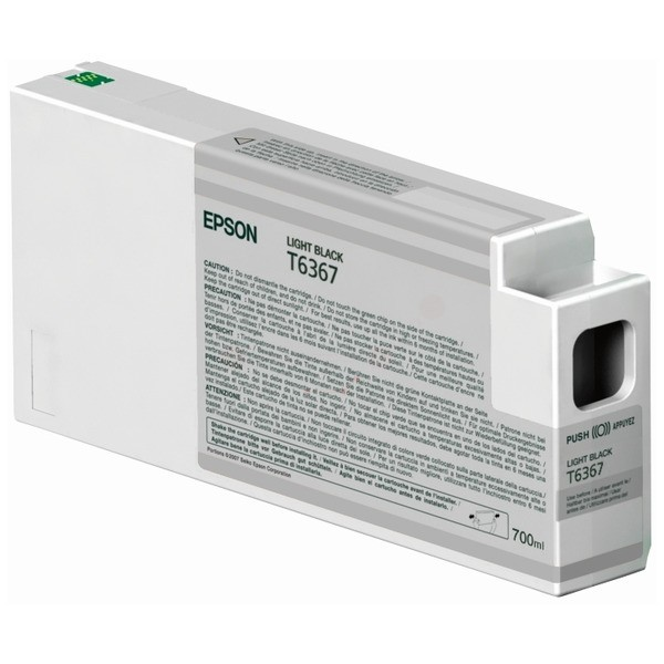 Original Epson C13T636700 / T6367 Tintenpatrone schwarz hell 700 ml