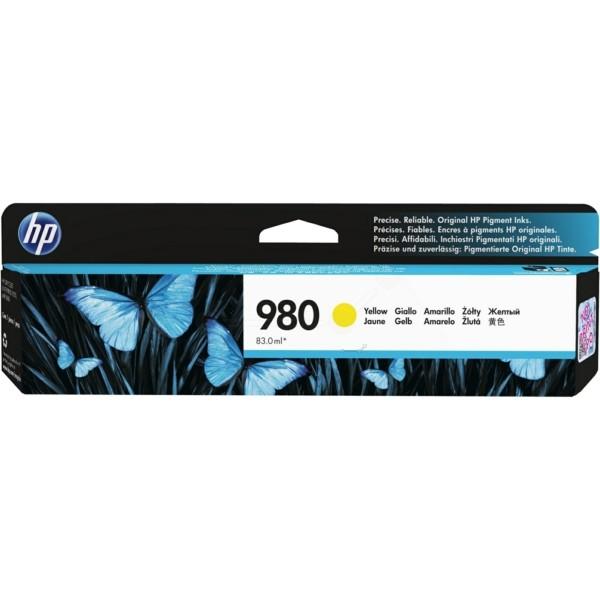 Original HP D8J09A / 980 Tintenpatrone gelb 83 ml 6.600 Seiten
