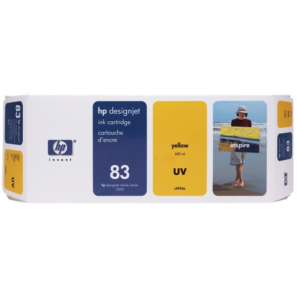 Original HP C4943A / 83 Tintenpatrone gelb ,UV-Tinte 680 ml