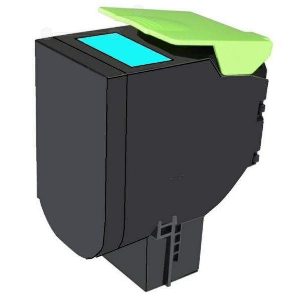 Original Lexmark 80C2HC0 / 802HC Toner-Kit cyan return program 3.000 Seiten