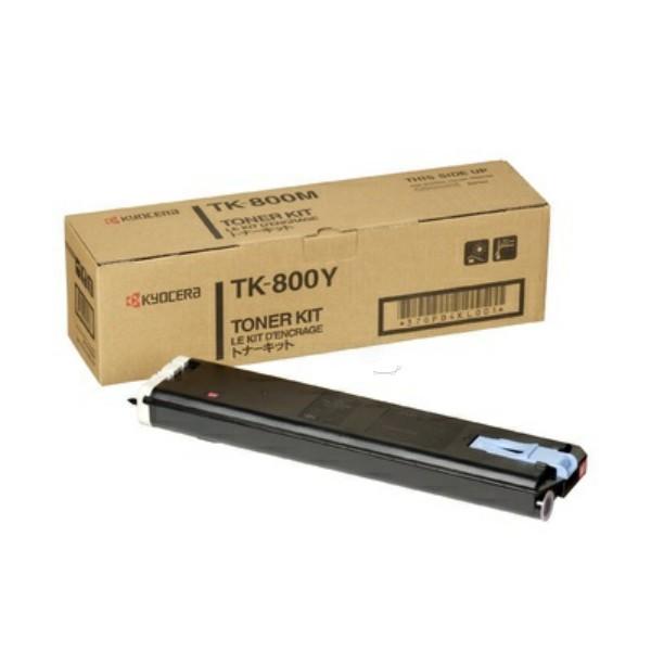 Original Kyocera 370PB3KL / TK-800 Y Toner-Kit gelb 10.000 Seiten