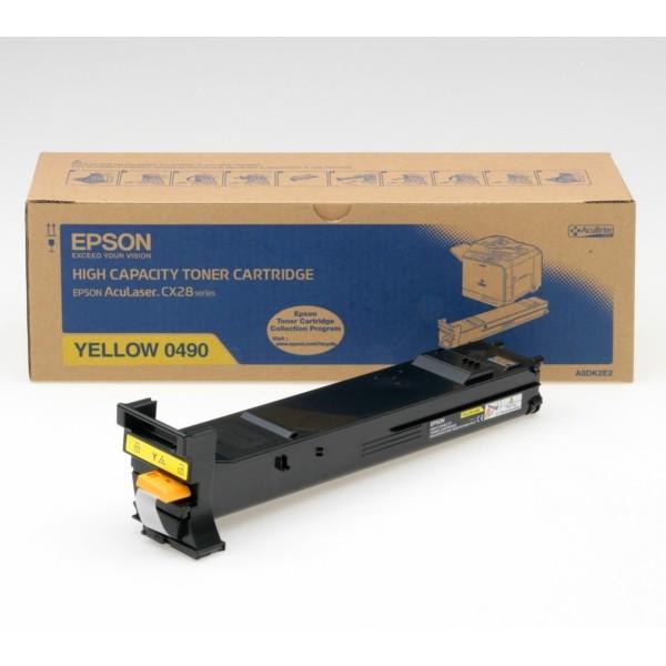 Original Epson C13S050490 / 0490 Toner gelb 8.000 Seiten