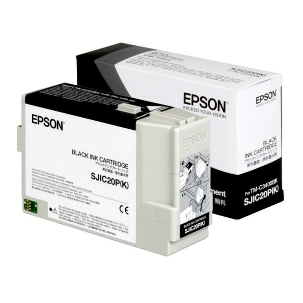Original Epson C33S020490 / SJIC-20-P-(K) Tintenpatrone schwarz 78,7 ml