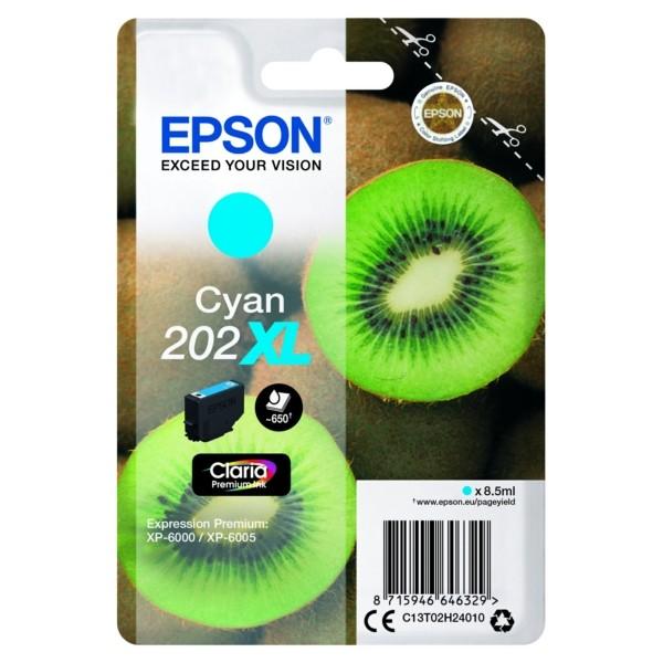 Original Epson C13T02H24010 / 202XL Tintenpatrone cyan 8,5 ml 650 Seiten