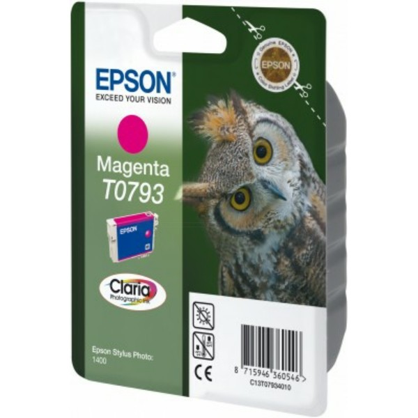 Original Epson C13T07934010 / T0793 Tintenpatrone magenta 11 ml 685 Seiten