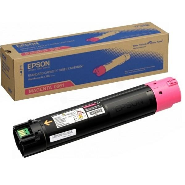 Original Epson C13S050661 / 0661 Toner-Kit magenta 7.500 Seiten