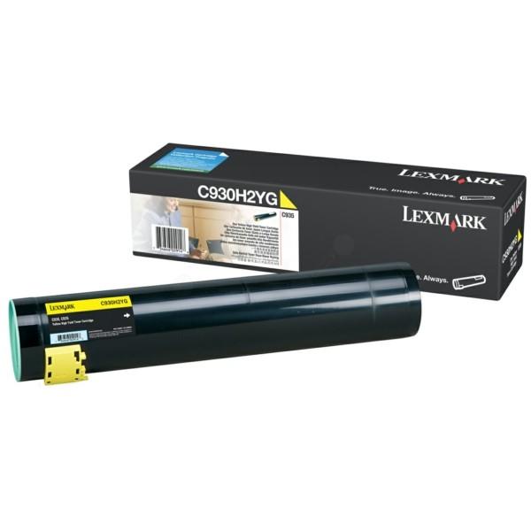 Original Lexmark C930H2YG Toner gelb 24.000 Seiten