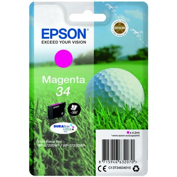 Original Epson C13T34634010 / 34 Tintenpatrone magenta 4,2 ml 300 Seiten
