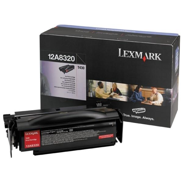 Original Lexmark 12A8320 Tonerkartusche schwarz 6.000 Seiten