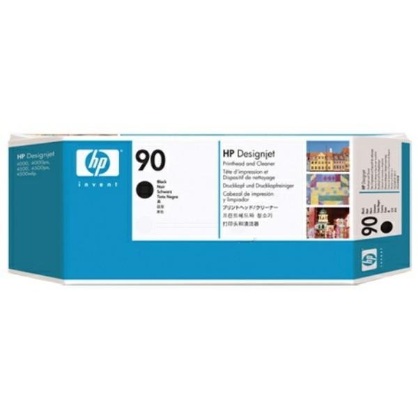 Original HP C5054A / 90 Druckkopf schwarz +Druckkopfreiniger 44 ml