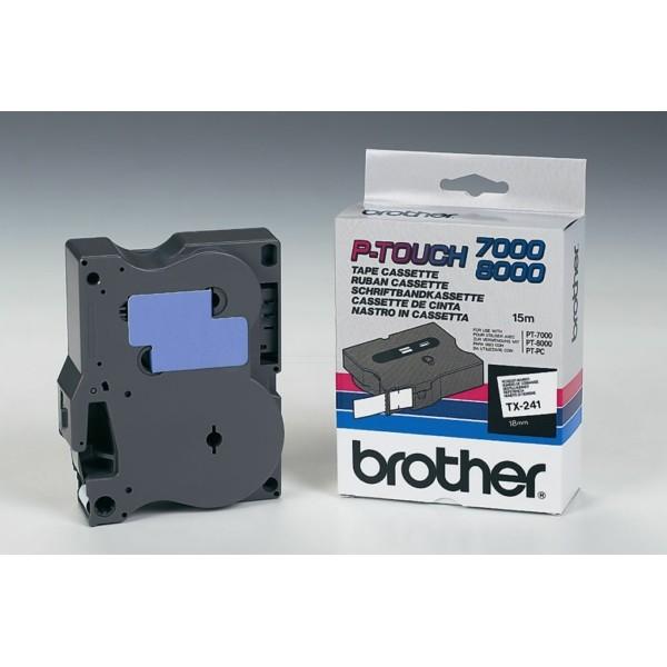 Original Brother TX241 DirectLabel schwarz auf weiss