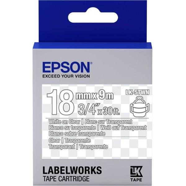 Original Epson C53S655009 / LK-5TWN Farbband weiss auf Transparent