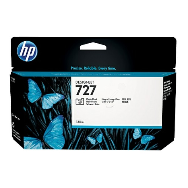 Original HP B3P23A / 727 Tintenpatrone schwarz foto 130 ml