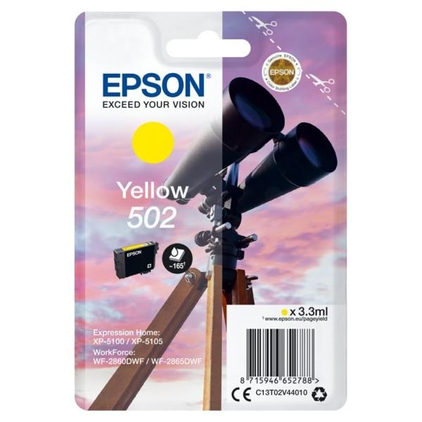 Original Epson C13T02V44010 / 502 Tintenpatrone gelb 3,3 ml 160 Seiten