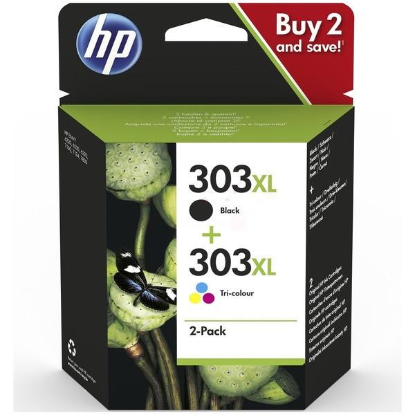 Original HP 3YN10AE / 303XL Druckkopfpatrone Multipack schwarz + color 10ml + 12ml