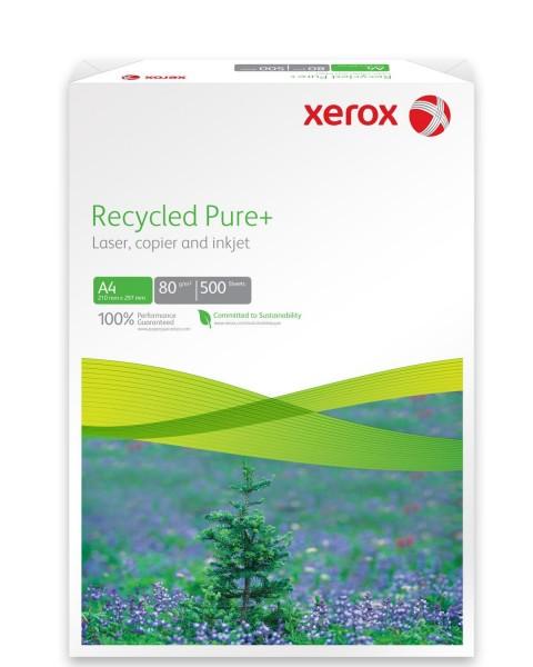Xerox®-Papier für Drucker und Kopierer. Mit Xerox® Recycled Pure+ wird das Sortiment im Bereich Recycling Papiere aus 100% Altpapier komplettiert. Dieses Premium Recycling Papier bietet einfach alles, was von einem erstklassigen, repräsentativen Büropapie
