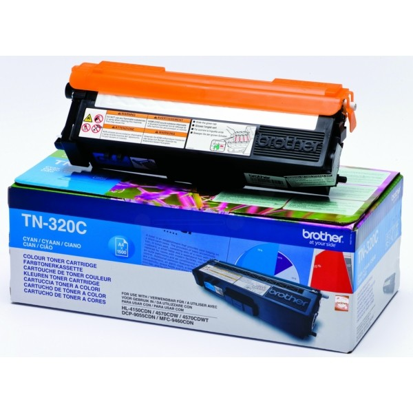 Original Brother TN320C Toner cyan 1.500 Seiten