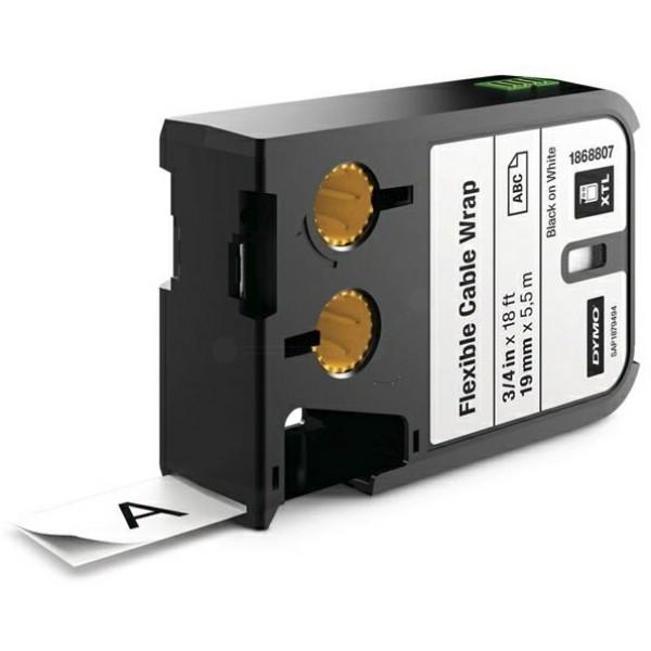 Original Dymo 1868807 DirectLabel-Etiketten Nylon cable wraps schwarz auf weiss