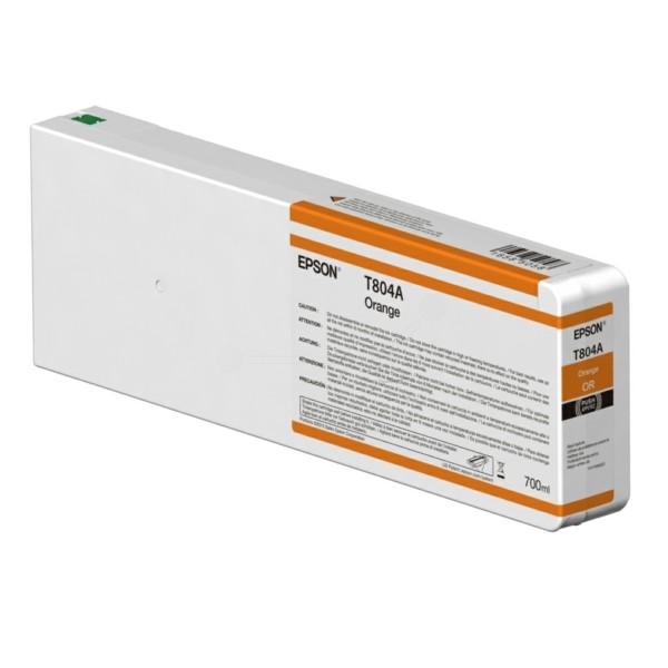Original Epson C13T804A00 / T804A Tintenpatrone orange 700 ml