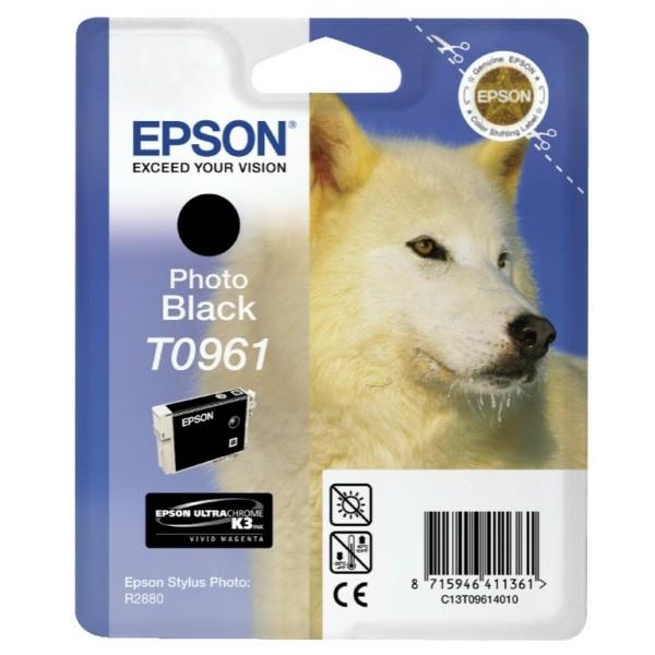 Original Epson C13T09614010 / T0961 Tintenpatrone schwarz 11,4 ml 495 Seiten