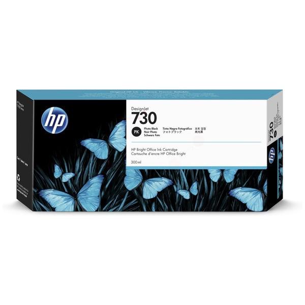 Original HP P2V73A / 730 Tintenpatrone schwarz foto 300 ml