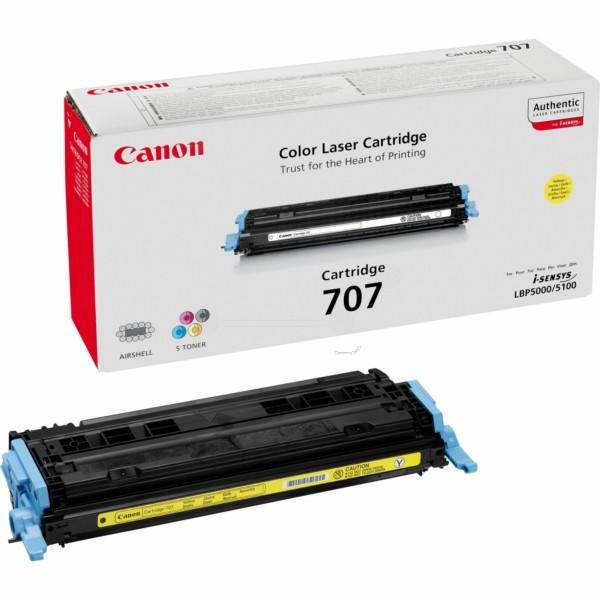 Original Canon 9421A004 / 707Y Tonerkartusche gelb 2.000 Seiten