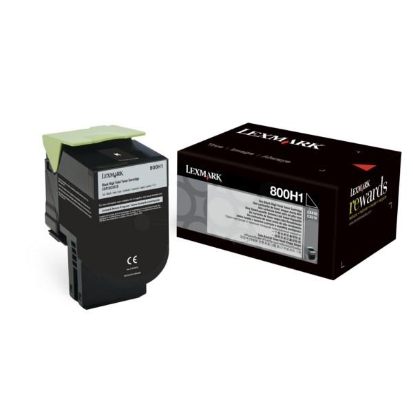Original Lexmark 80C0H10 / 800H1 Toner-Kit schwarz 4.000 Seiten