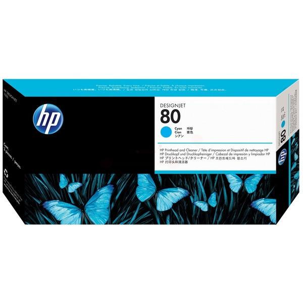 Original HP C4821A / 80 Druckkopf cyan 17 ml 2.500 Seiten