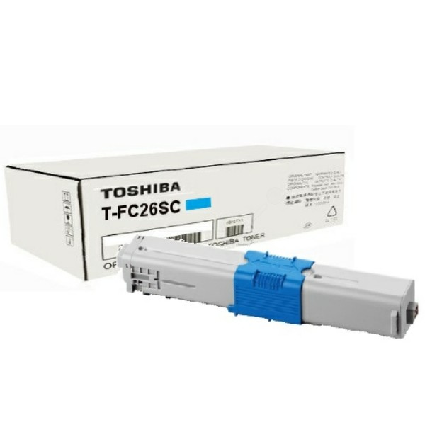 Original Toshiba 6B000000354 / T-FC 26 SC Toner-Kit cyan 5.000 Seiten