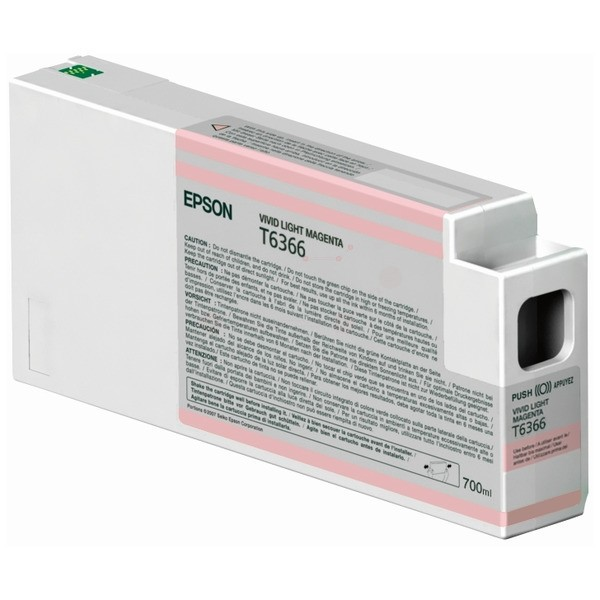 Original Epson C13T636600 / T6366 Tintenpatrone magenta hell 700 ml