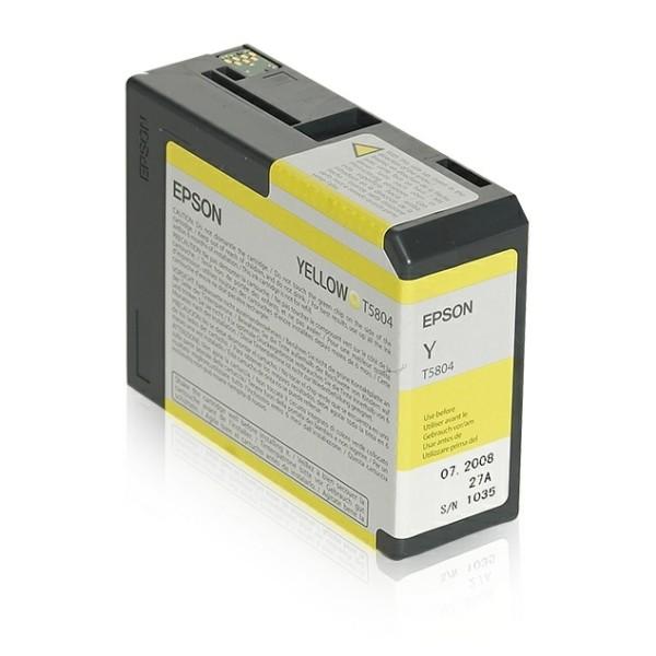 Original Epson C13T580400 / T5804 Tintenpatrone gelb 80 ml