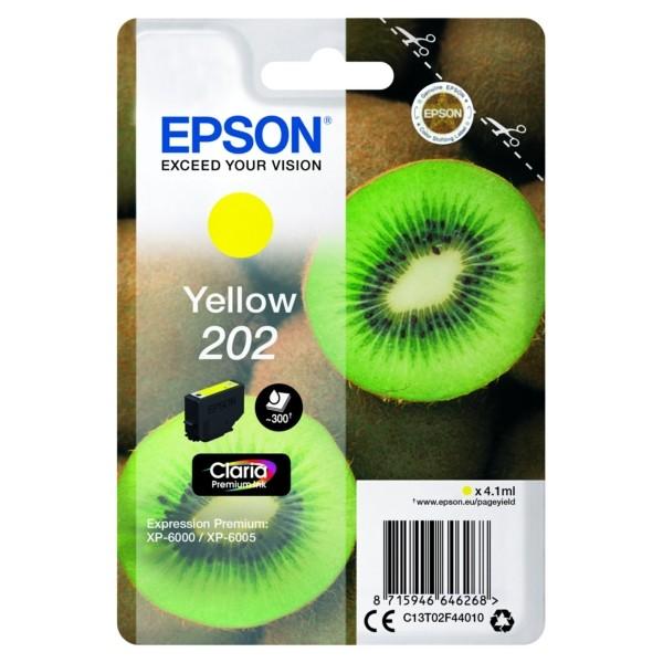 Original Epson C13T02F44010 / 202 Tintenpatrone gelb 4,1 ml 300 Seiten