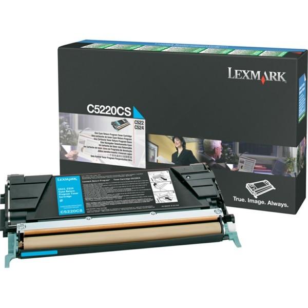 Original Lexmark C5220CS Toner-Kit cyan return program 3.000 Seiten