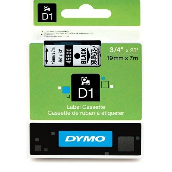 Original Dymo 45800 / S0720820 DirectLabel-Etiketten schwarz auf Transparent
