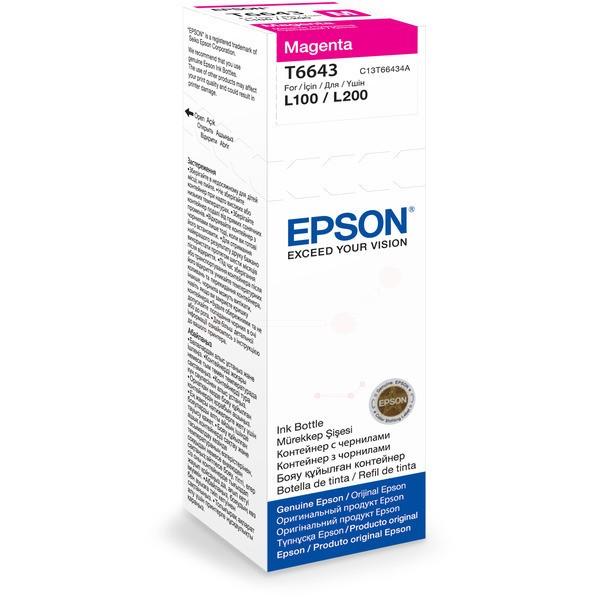 Original Epson C13T66434A / T6643 Tintenpatrone magenta 70 ml 6.500 Seiten