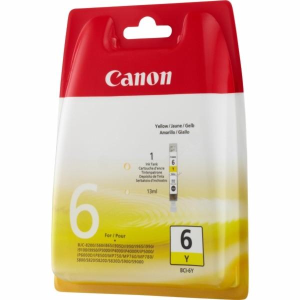 Original Canon 4708A002 / BCI-6 Y Tintenpatrone gelb 13 ml 210 Seiten