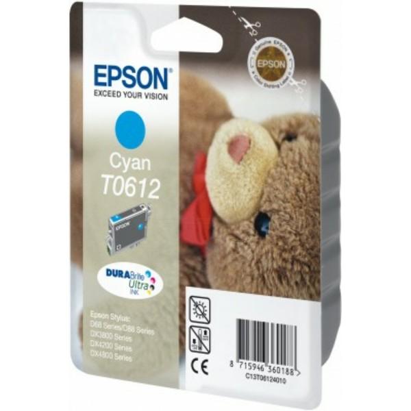 Original Epson C13T06124010 / T0612 Tintenpatrone cyan 8 ml 250 Seiten