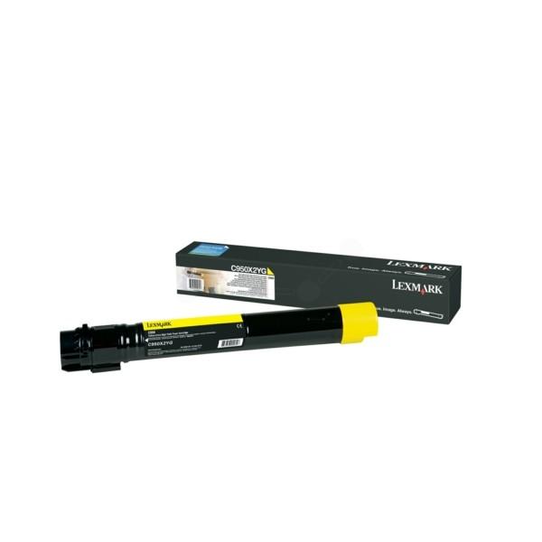 Original Lexmark C950X2YG Toner gelb 22.000 Seiten
