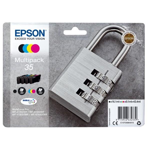 Original Epson C13T35864010 / 35 Tintenpatrone MultiPack Bk,C,M,Y 16,1ml + 3x9,1ml