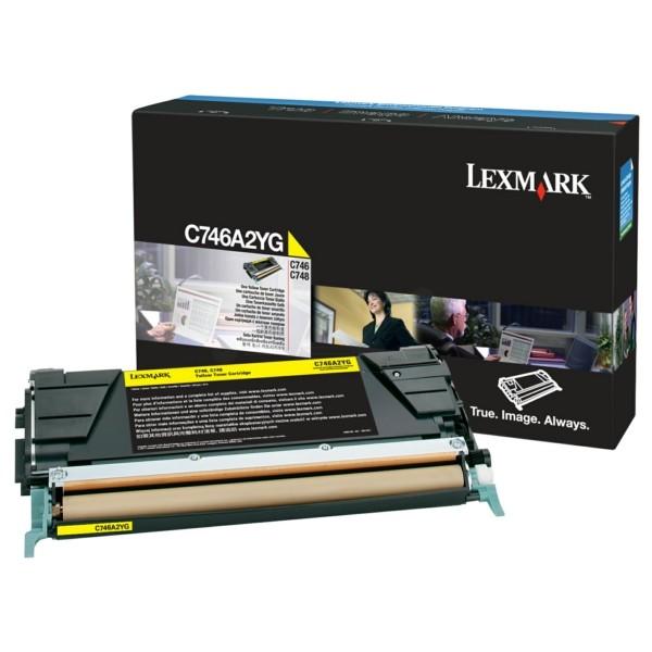 Original Lexmark C746A2YG Tonerkartusche gelb 7.000 Seiten