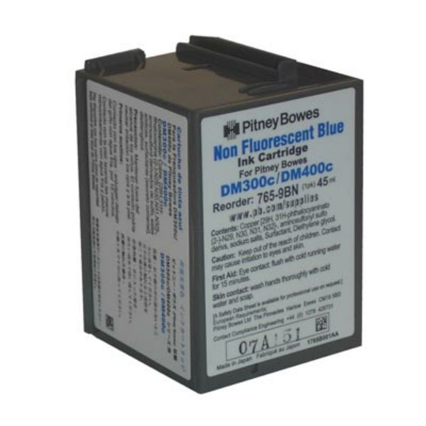 Original Pitney Bowes 7659BN Tintenpatrone blau 45 ml