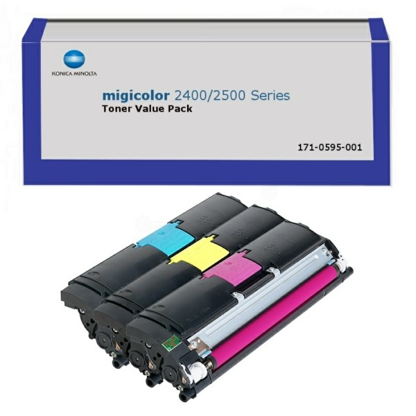 Original Konica Minolta A00W012 / 171-0595-001 Toner Rainbow-Kit (c,m,y) 4.500 Seiten